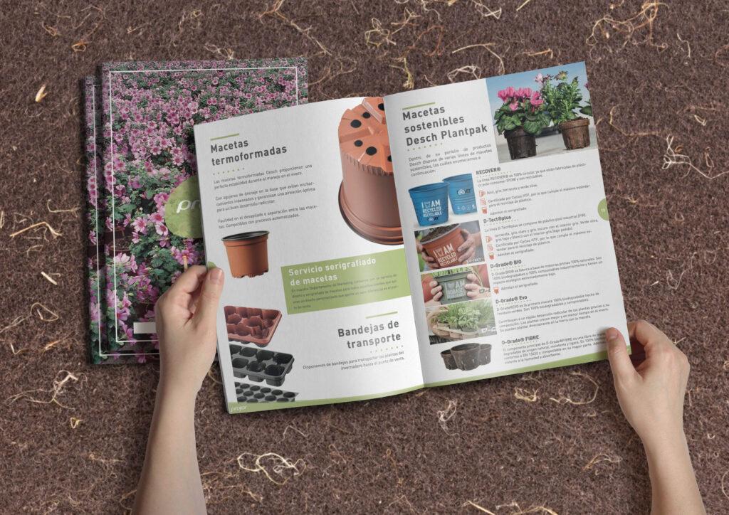 Diseño catálogo producto Tipografia